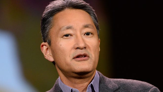 Sony President and CEO Kazuo Hirai delivers a keynote address at the 2014 International CES in Las Vegas.