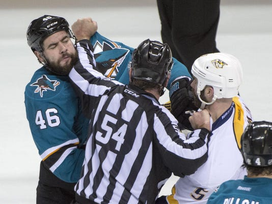 NHL: Stanley Cup Playoffs-Nashville Predators at San Jose Sharks
