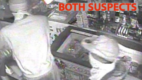 The Escambia County Sheriff's Office is searching for two suspects who were involved in an armed robbery Monday, June 18, 2018, at Nations Food Mart on Patricia Drive.