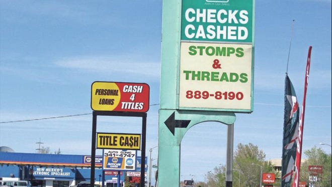 This ACE Cash Express outlet in Albuquerque, N.M., sits on a block that has several small loan storefronts.