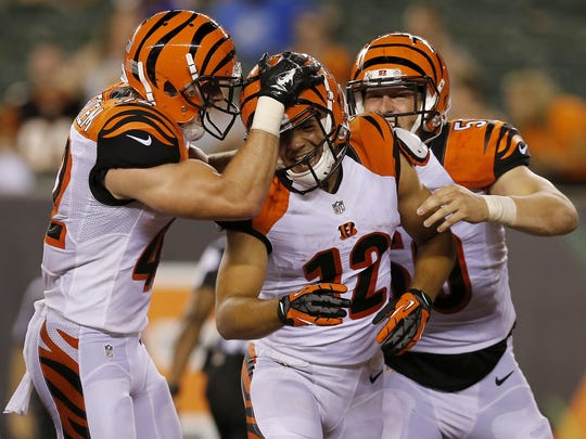 Bengals wide receiver Alex Erickson (12) was the star of the first preseason game. He will have to repeat it against Detroit to truly make a roster push.