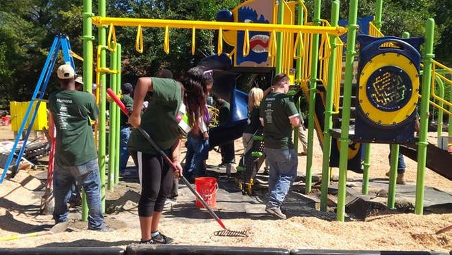 Humana playground project in Jackson, Miss.