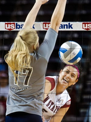 New Mexico State's Andrea Tauai has been a key player for the Aggies this season. Tauai and NMSU face No. 8 Stanford in the first round of the NCAA Tournament tonight in Palo Alto, Calif.