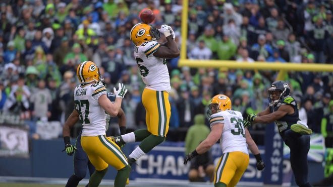 Green Bay's Brandon Bostick famously wasn't able to catch tan onside kick during the NFC Championship Game in 2015.