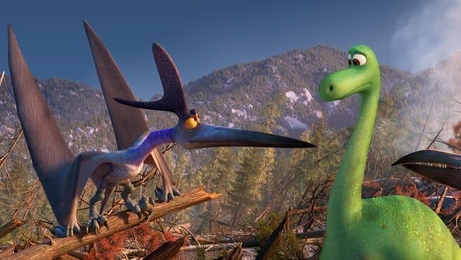 "Thunderclap and Arlo in ""The Good Dinosaur."""