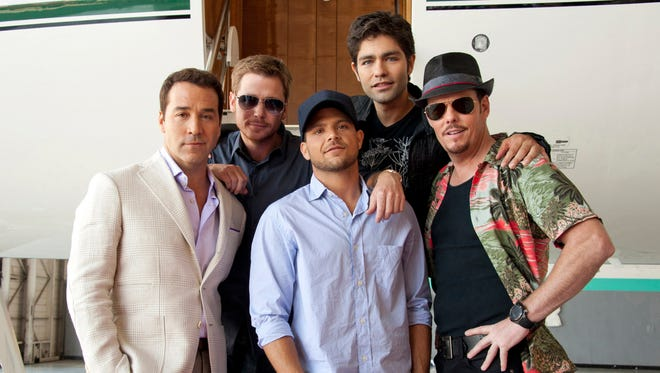 Members of the 'Entourage' cast, from left: Jeremy Piven, Kevin Connolly, Jerry Ferrara, Adrian Grenier and Kevin Dillon.