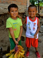 Two young children in one of the rural communities