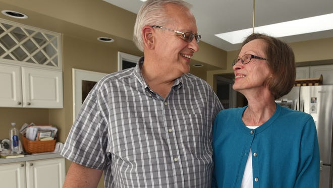 Dennis and Rose Wingfield in their Northville Township home. Rose began CPR on Dennis on May 15, 2017, after she determined with the help of a township emergency dispatcher that he was in cardiac arrest.