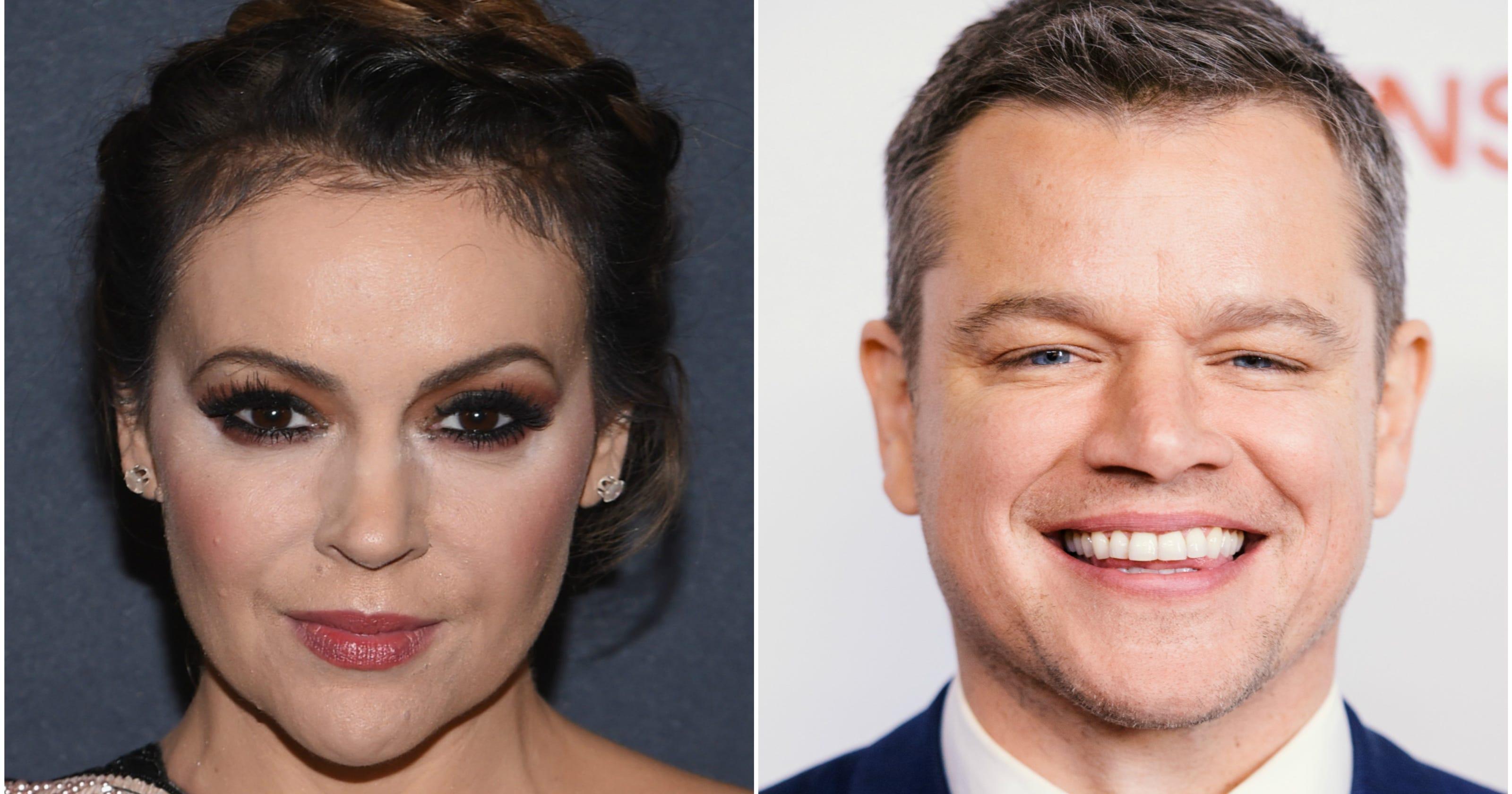 Alyssa Milano Sex Caption - Alyssa Milano shuts down Matt Damon's sexual harassment comments