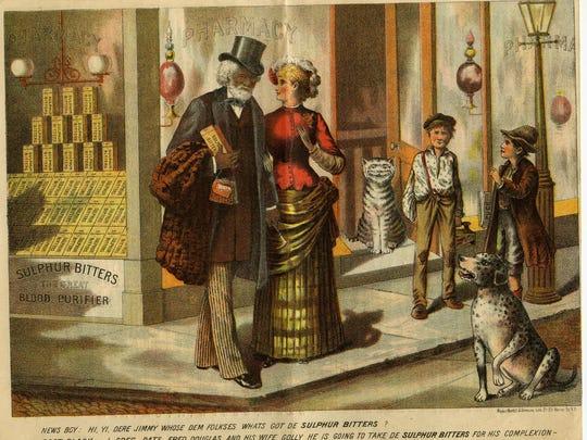 Fig. 5 Leaflet advertising Sulphur Bitters, ca. 1885