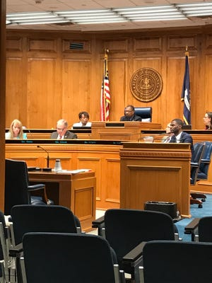 """Rep. Beryl Amedee, R-Houma and author of the """"Bring Recess Back Bill,"""" along with other members of the House Education Committee hear about scheduling conflicts that can limit recess in schools."""