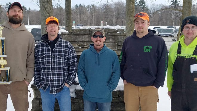 Maribel Sportsmen's Club held its Cottontail Classic Feb. 10. Winners included, from left, Joe Kvitek, Ted Marcelle, Marshall Marquardt, Tony Krueger and Riley Norman. Not available for photo was Zachary Grimm.
