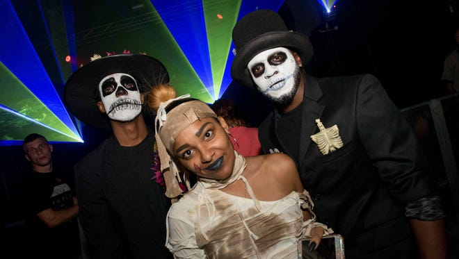 The Witches Ball at Elektricity October 15, 2016 featured a Halloween costume contest with music and entertainment provided by Electric Circus featuring a mix of burlesque dancers, stilt walkers and fire performers.