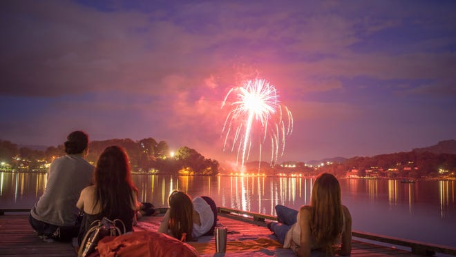 There are few more scenic locations to watch July 4 fireworks than Lake Junaluska.