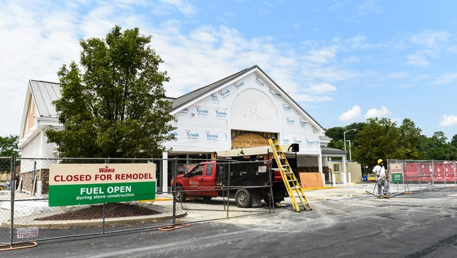 The Wawa store on Route 13 is closed while renovations are completed.