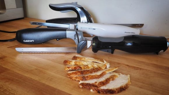 Electric knives and carving knives are absolutely necessary if you're preparing a turkey.