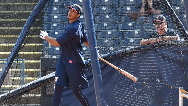 In 46 games with the Toledo Mud Hens, Steven Moya batted .166 with seven home runs and 15 RBIs.