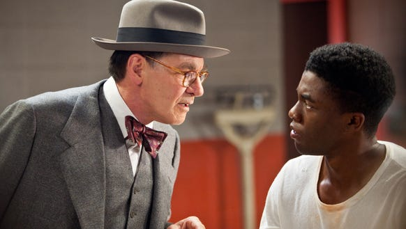 Harrison Ford, left, plays Branch Rickey and Chadwick