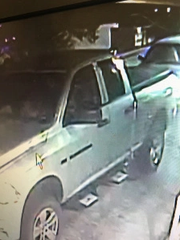Police released photos of a suspected vehicle in the