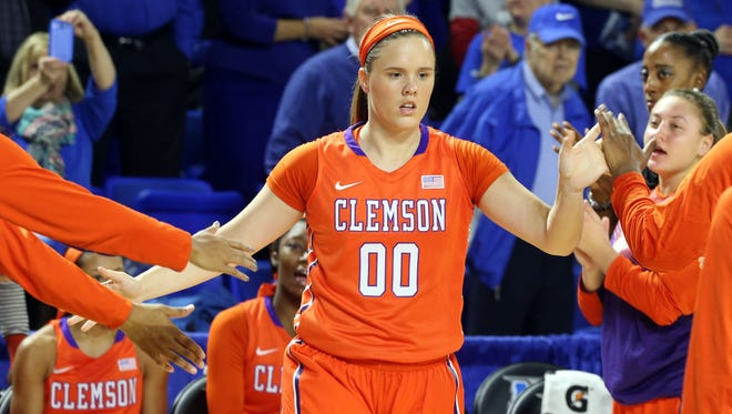 Clemson's Shelbie Davenport is introduced prior to playing MTSU Dec. 3, 2014 at MTSU.