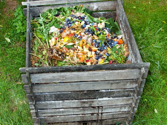 Composting helps reduce waste and is good for the environment.