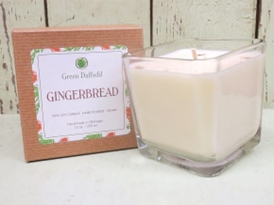 Gingerbread candle from Green Daffodil.