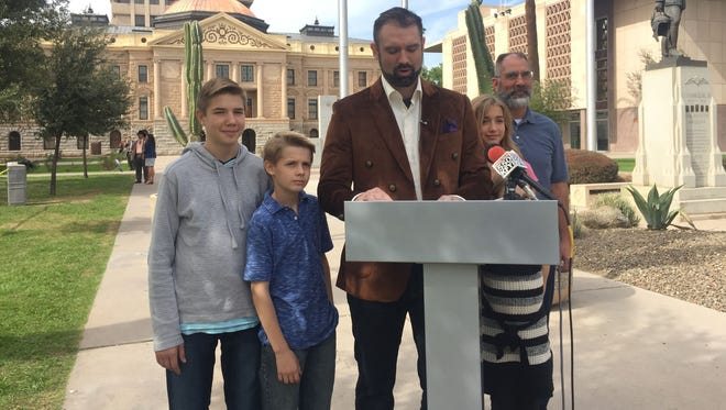 Noah Dyer announces in February his bid for Arizona governor in 2018.