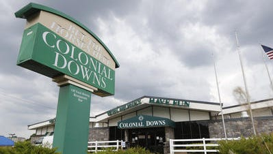 A Colonial Downs off-track betting parlor in Richmond, Va., in June.