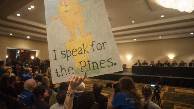 Protesters rally against Pinelands pipeline