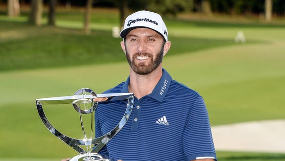 Dustin Johnson won the 2017 The Northern Trust in August at Glen Oaks Club on Long Island.