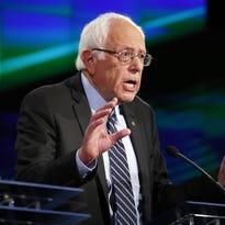 Sen. Bernie Sanders, of Vermont, speaks during the CNN Democratic presidential debate Oct. 13 in Las Vegas.