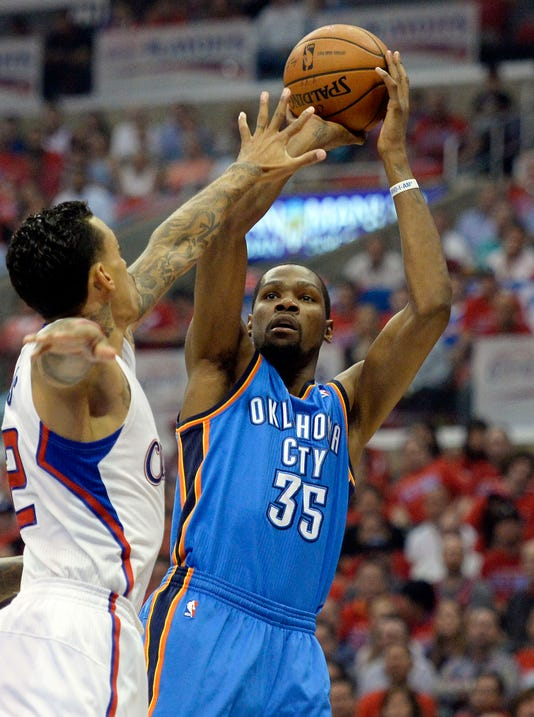 Kevin Durant powers Thunder by Clippers into West finals