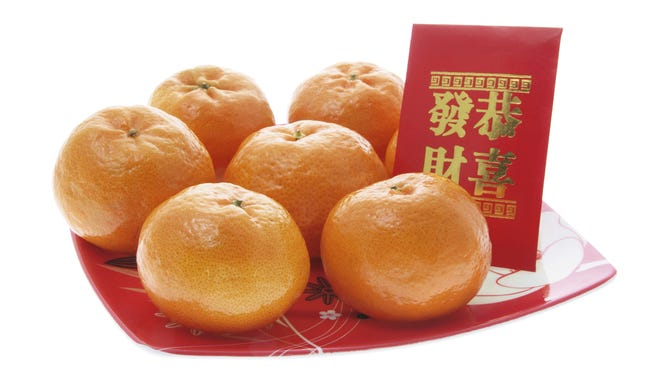 Mandarin oranges are a traditional symbol of good fortune during Chinese New Year.