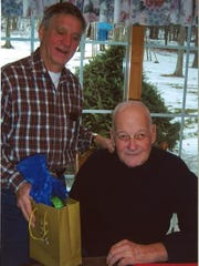Hank Runge, right, with his brother-in-law, Byron Moore.