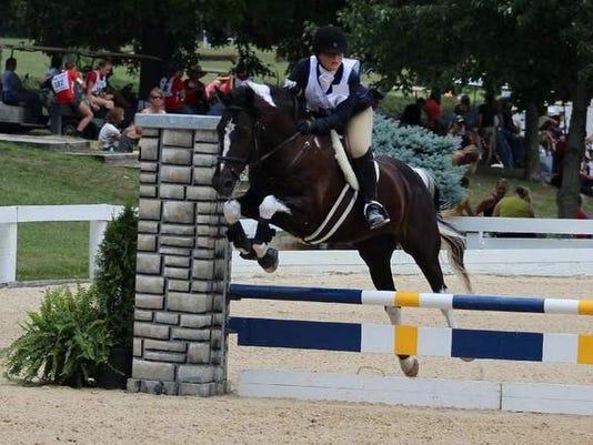 Grace Vaculik jumping