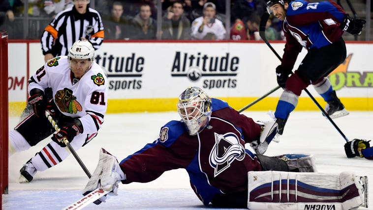 Nov 26, 2014; Denver, CO, USA; Colorado Avalanche goalie