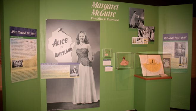 Margaret (McGuire) Blott, Wisconsin's first Alice in Dairyland is prominently featured in the museum's exhibit.