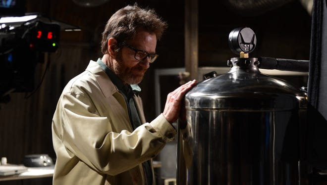 'Breaking Bad' star Bryan Cranston went back to the lab for the finale.
