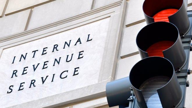 Internal Revenue Service sign.