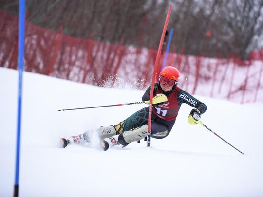 UVM's Laurence St. Germain is one of the east's top Alpine women skiers.