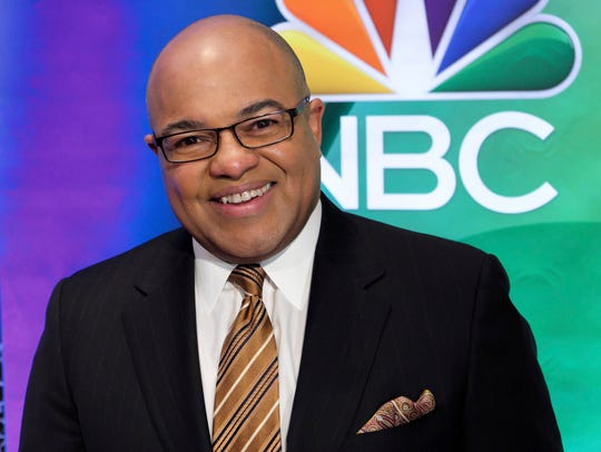 In this March 2, 2017 photo, Mike Tirico attends the