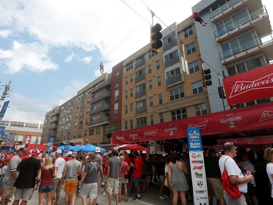 People fill the Banks for the MLB All-Star Summer Pepsi