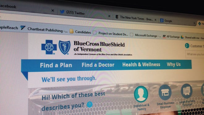 Blue Cross/Blue Shield of Vermont's website