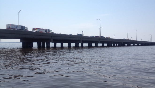 Traffic heading to beach grinds to a halt after major accident on Pensacola Bay Bridge.