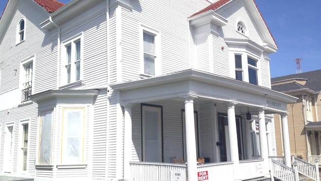 The Roxbury rooming house on Main Street, Brockport, where Bryan Parslow toppled out of an unsecured, open second-floor window during a party in 2008.