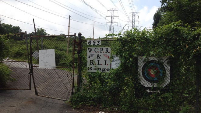 The Westchester County Police Revolver and Rifle League shooting range at 693 Ardsley Road is shut down while Greenburgh police investigate how a bullet fragment from the range hit a woman at a nearby development in June.