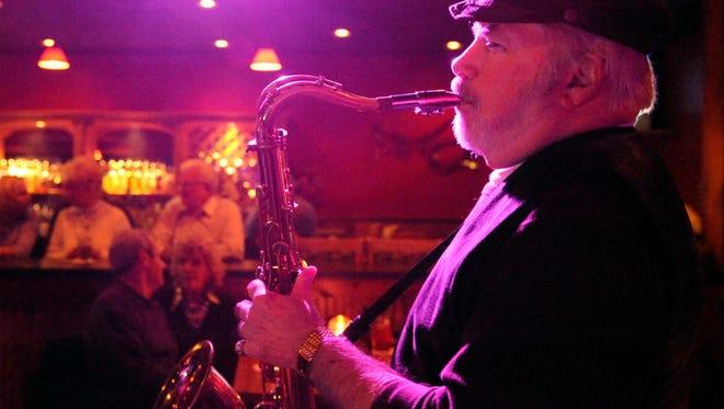 Long-time Evansville jazzman Bookie Buchenberger plays at a local nightclub in 2007.