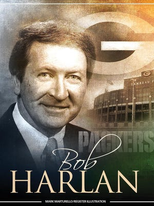 Bob Harlan, who owns two Super Bowl and one World Series ring, has been inducted into the Register's hall of fame.