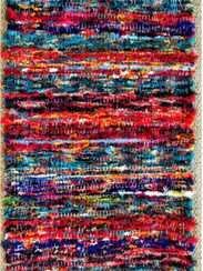 Nancie Ferguson's weavings are functional and consist