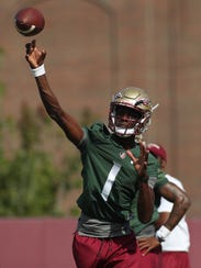 Freshman quarterback James Blackman has earned a lot